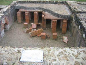 Old roman underfloor heating