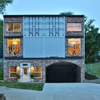 home built with shipping containers